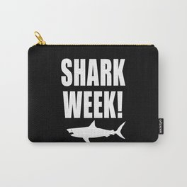 Shark Week, white text on black Carry-All Pouch
