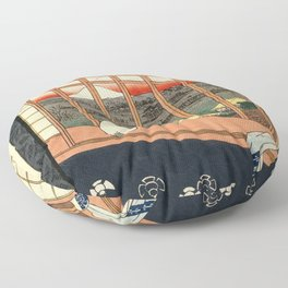 Asakusa ricefields and torinomachi festival Floor Pillow