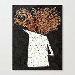 Autumn Still Life with Pampas Grass Canvas Print