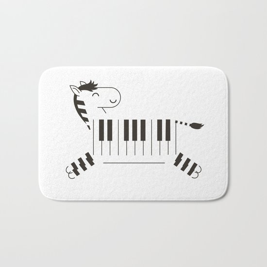 Life is like a piano Bath Mat