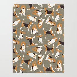 beagle scatter stone Poster