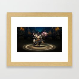 cute cat in magic Framed Art Print