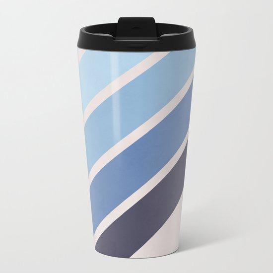 Blue Color Drift Metal Travel Mug