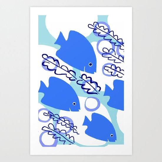Angelfish Art Print