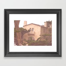 House Along the Coast Framed Art Print
