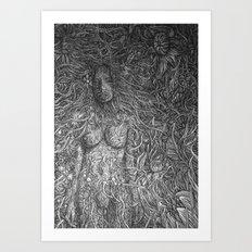 White Midnight Art Print