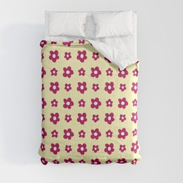 soft Flower 8- pink and yellow Comforters