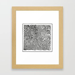 Fingerprint 2 Framed Art Print