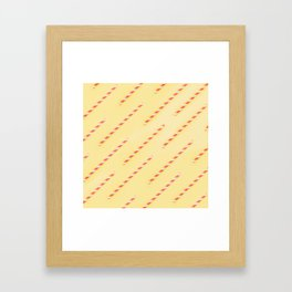drinking straws Framed Art Print