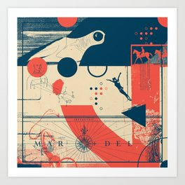 Exploration Fragments Tile 7/12 Art Print