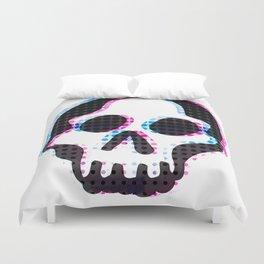 Glitch Skull Duvet Cover