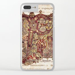 Book Of Kells Chi Rho Page On Script Clear iPhone Case