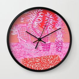 Sun Bathing Wall Clock