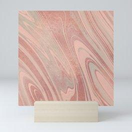 Modern pastel colors rose gold trendy marble Mini Art Print