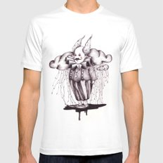 MR Rain Mens Fitted Tee MEDIUM White
