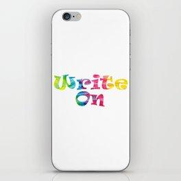 Write On (Tie Dye) iPhone Skin