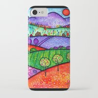 north carolina iPhone & iPod Cases featuring Landscape - Boone, North Carolina by Karen Hickerson