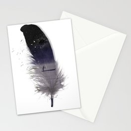 Feather mist Stationery Cards
