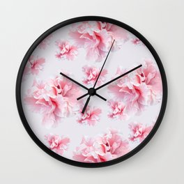 Pink Azalea Flower Dream #1 #floral #pattern #decor #art #society6 Wall Clock