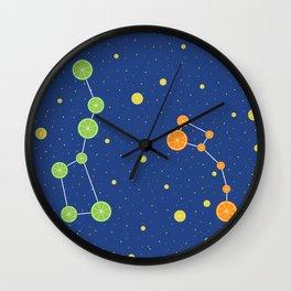 Citrus constellations Wall Clock