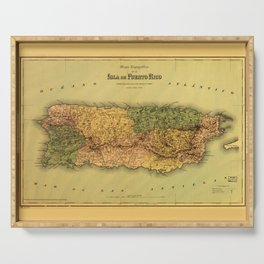 Map of Puerto Rico (1886) Serving Tray