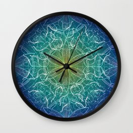Pure Growth Mandala Wall Clock