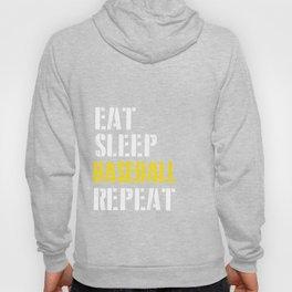Eat. Sleep. Baseball. Repeat. Hoody
