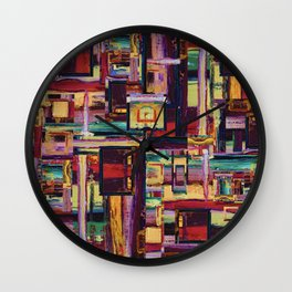 Windows to Red Planet Wall Clock