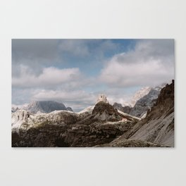 Red House in the mountains | Dolomites, Italy | Canvas Print
