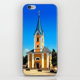 The village church of Alberndorf in der Riedmark iPhone Skin