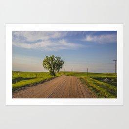 Country Road, North Dakota 9 Art Print