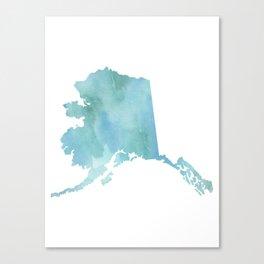 Alaska Map Canvas Prints | Society6