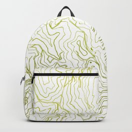 Secret places I - handmade green map Backpack