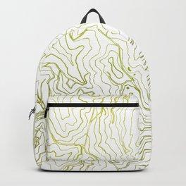 Secret places I - handmade green map Backpack