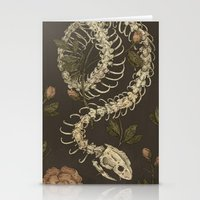 snake Stationery Cards featuring Snake Skeleton by Jessica Roux