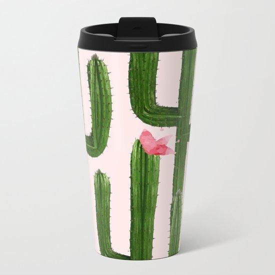 Happy Cacti #society6 #decor #buyart Metal Travel Mug
