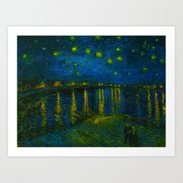 Starry Night Over the Rhône 1888 oil on canvas by Vincent van Gogh Art Print