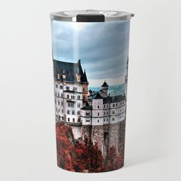 The Castle of Mad King Ludwig in the Autumn, Neuschwanstein Castle, Bavaria, Germany Travel Mug
