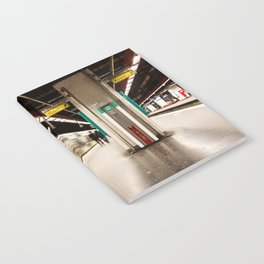 Fast train at the station Notebook
