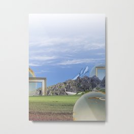 atmosphere · look into the future Metal Print