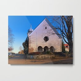 The village church of Klaffer I | architectural photography Metal Print