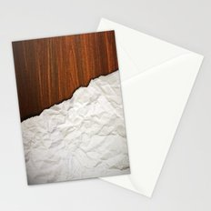 Wooden Crumbled Paper Stationery Cards