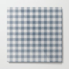 Slate Grey Buffalo Plaid Metal Print