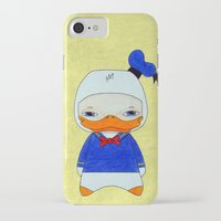 donald duck iPhone & iPod Cases featuring A Boy - Donald Duck by Christophe Chiozzi