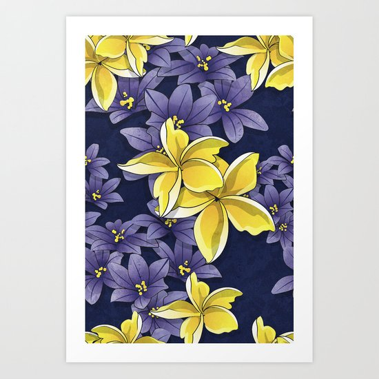 Complementary flowers Art Print