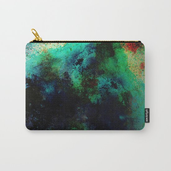The Life In Your Veins - Abstract, acrylic, textured painting Carry-All Pouch