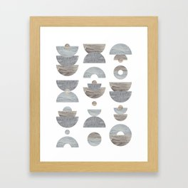 semicircle pattern Framed Art Print