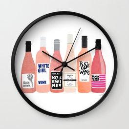 Rose Bottles Wall Clock