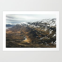 Mountain Pass, Iceland Art Print