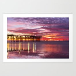 November Sunset Art Print